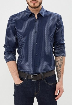 Рубашка Boss. Цвет: синий