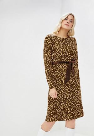 Платье Sonett. Цвет: коричневый