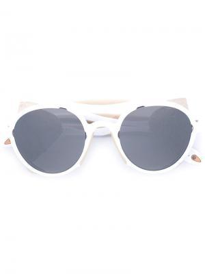 Солнцезащитные очки с оправой авиатор Givenchy. Цвет: белый