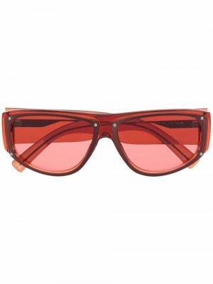 Солнцезащитные очки в квадратной оправе с логотипом Givenchy Eyewear. Цвет: красный