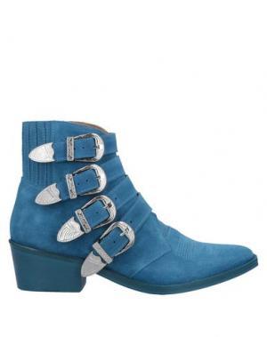 Полусапоги и высокие ботинки TOGA PULLA. Цвет: пастельно-синий