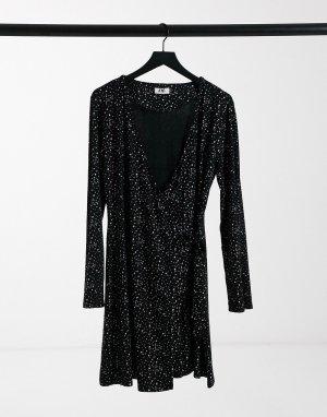 Черное платье с мерцающим эффектом -Черный Elvi