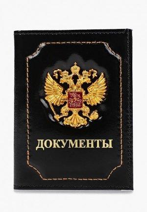 Обложка для документов Forte St.Petersburg. Цвет: черный