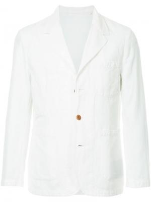 Однобортный пиджак Kent & Curwen. Цвет: белый