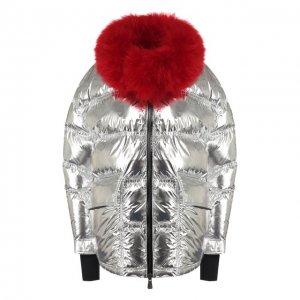 Куртка 3 Moncler Grenoble. Цвет: серебряный