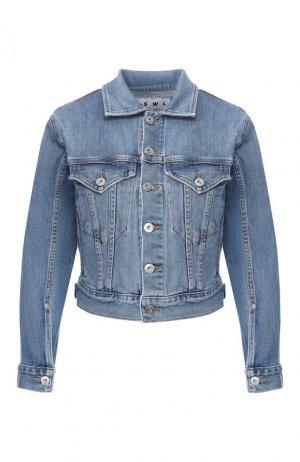Джинсовая куртка Proenza Schouler. Цвет: голубой