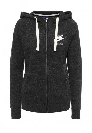Толстовка Nike Sportswear Gym Vintage Womens Full-Zip Hoodie. Цвет: серый