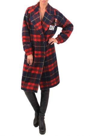 Coat JUNONA. Цвет: black and red