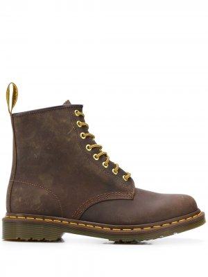 Ботинки 1460 в стиле милитари Dr. Martens. Цвет: коричневый