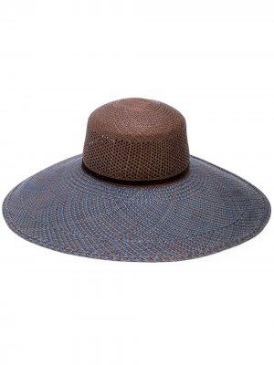 Широкополая шляпа THE FREYA BRAND. Цвет: коричневый
