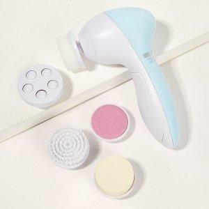 Многофункциональная электрическая щетка для чистки лица 6шт SHEIN. Цвет: многоцветный