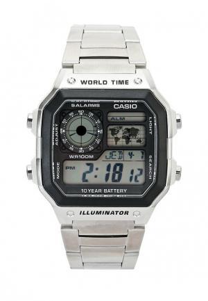 Часы Casio Collection AE-1200WHD-1A. Цвет: серебряный