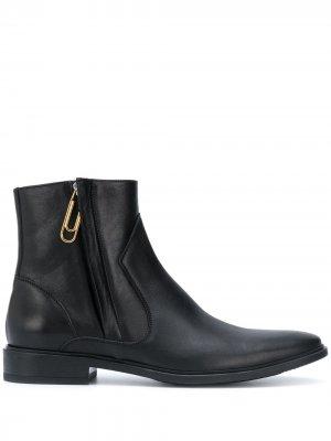 Ботинки челси с декором Paper Clip Off-White. Цвет: черный