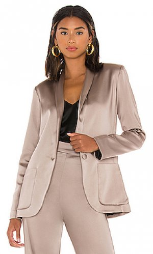 Блейзер shawl Amanda Uprichard. Цвет: серо-коричневый