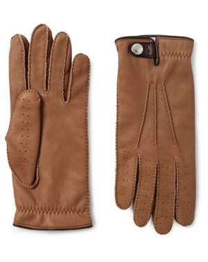 Перчатки BRUNELLO CUCINELLI. Цвет: верблюжий