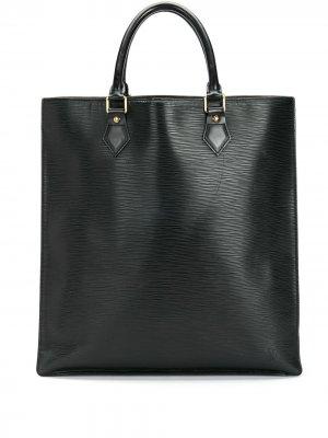 Сумка-тоут Epi Sac Plat pre-owned Louis Vuitton. Цвет: черный