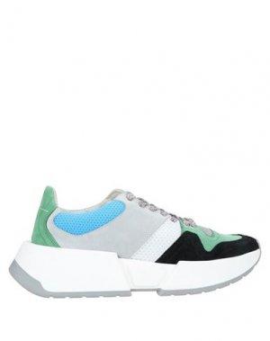 Низкие кеды и кроссовки MM6 MAISON MARGIELA. Цвет: зеленый