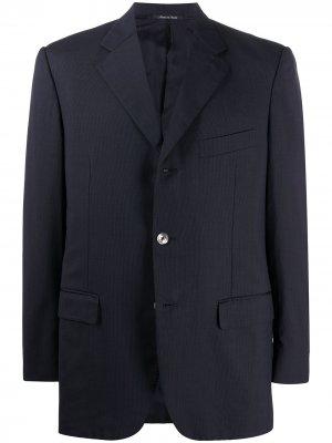Однобортный пиджак 2000-х годов Yves Saint Laurent Pre-Owned. Цвет: синий