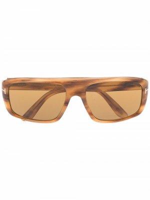 Солнцезащитные очки-авиаторы Duke TOM FORD Eyewear. Цвет: коричневый