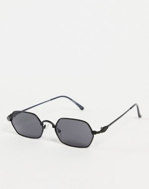 Круглые солнцезащитные очки в черной оправе стиле унисекс Micro-Черный цвет AJ Morgan