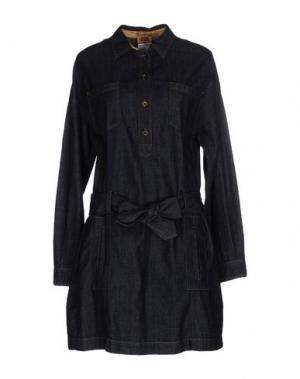 Короткое платье ALVIERO MARTINI 1a CLASSE. Цвет: синий
