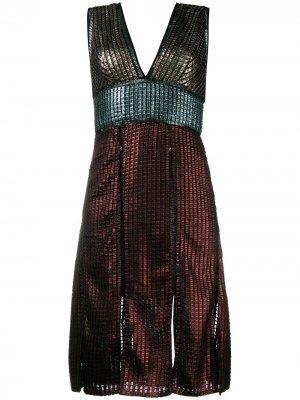 Платье Chainmail House of Holland. Цвет: разноцветный