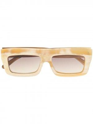 Солнцезащитные очки в квадратной оправе Rigards. Цвет: белый