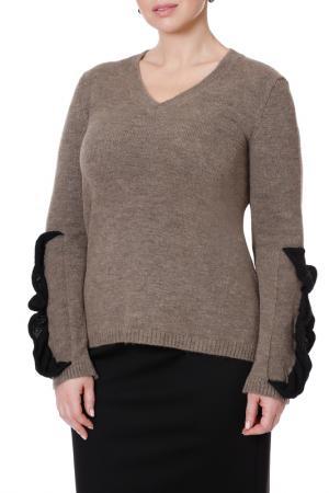 Пуловер LE FATE. Цвет: бежевый