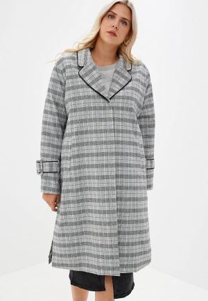 Пальто Lost Ink Plus. Цвет: серый