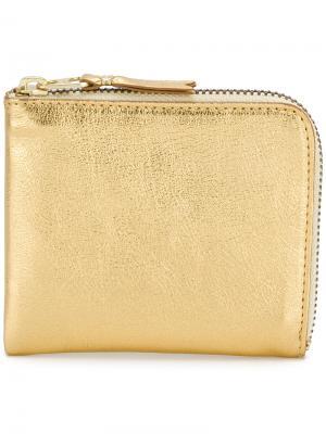 Бумажник на молнии с отделкой металлик Comme Des Garçons Wallet. Цвет: золотистый