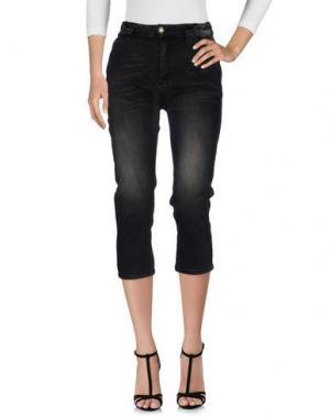 Джинсовые брюки-капри DIXIE. Цвет: стальной серый
