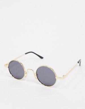 Золотистые солнцезащитные очки -Золотистый SVNX