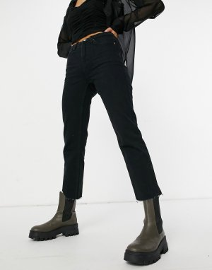 Черные прямые джинсы -Черный цвет Topshop