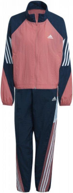 Спортивный костюм женский adidas Gametime, размер 40-42. Цвет: розовый
