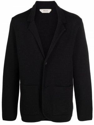 Пиджак без подкладки Z Zegna. Цвет: черный