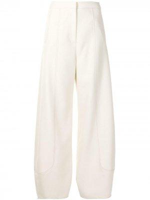 Широкие брюки Colman Alexis. Цвет: белый