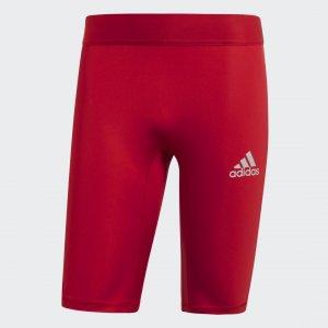 Укороченные тайтсы Alphaskin Sport Performance adidas. Цвет: красный