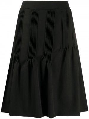 Юбка миди со складками Nina Ricci. Цвет: черный