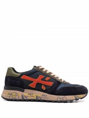 Кроссовки Mick 0 на шнуровке Premiata. Цвет: синий