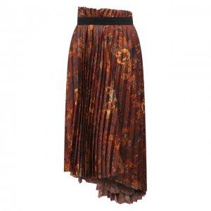 Юбка Balenciaga. Цвет: коричневый
