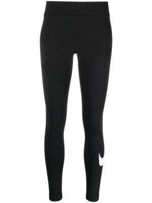 Легинсы с логотипом Nike. Цвет: черный