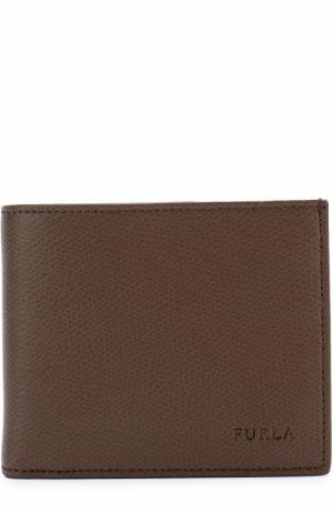 Кожаное портмоне с отделениями для кредитных карт и монет Furla. Цвет: коричневый