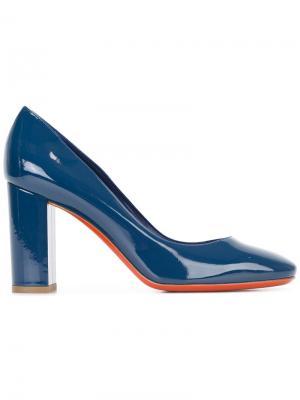Туфли на массивном каблуке Baldinini. Цвет: синий