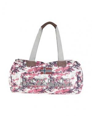 Дорожная сумка NAPAPIJRI. Цвет: светло-серый