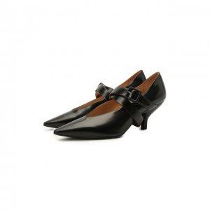Кожаные туфли Nina Maison Margiela. Цвет: чёрный