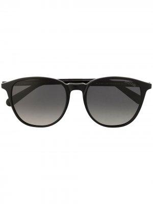 Солнцезащитные очки в овальной оправе Moncler Eyewear. Цвет: черный
