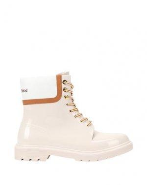 Полусапоги и высокие ботинки SEE BY CHLOÉ. Цвет: светло-розовый