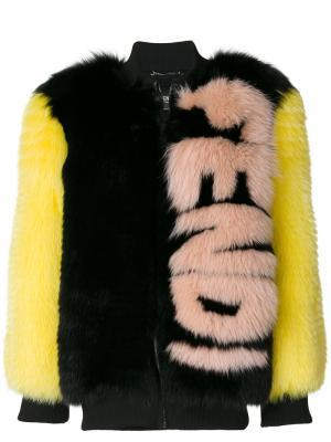 Свободная куртка-бомбер Fendi. Цвет: чёрный