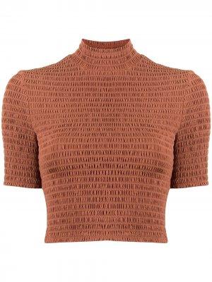 Укороченная блузка со сборками A.L.C.. Цвет: коричневый
