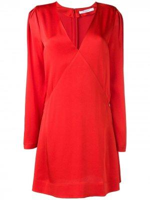 Платье мини с длинными рукавами Givenchy. Цвет: красный